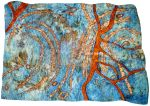 All Water Under the Bridge, 2014, hand embroidery, natural dyes and ecoprints, in private collection