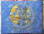 "Leighton Suite Blue Moon, indigo, procion, rhubarb root, hand embroidery, 24x16"""