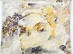 """Original Truths, detail 2, hand embroidery on cottons, natural dyes and rust processes, 20x31"""""""