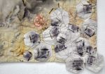"""Original Truths, detail 1, hand embroidery on cottons, natural dyes and rust processes, 20x31"""""""