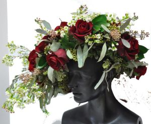 red rose headpiece view 1