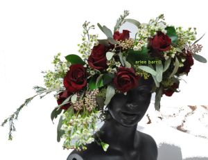 red rose headpiece view 2
