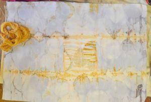 cotton eco over procion silk in tansy b