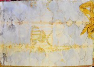 cotton eco over procion silk in tansy