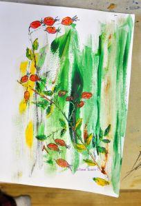 rosehips second sketch
