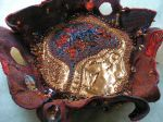 Brain Pan, 2009, hand and machine embroidery, beading, metal